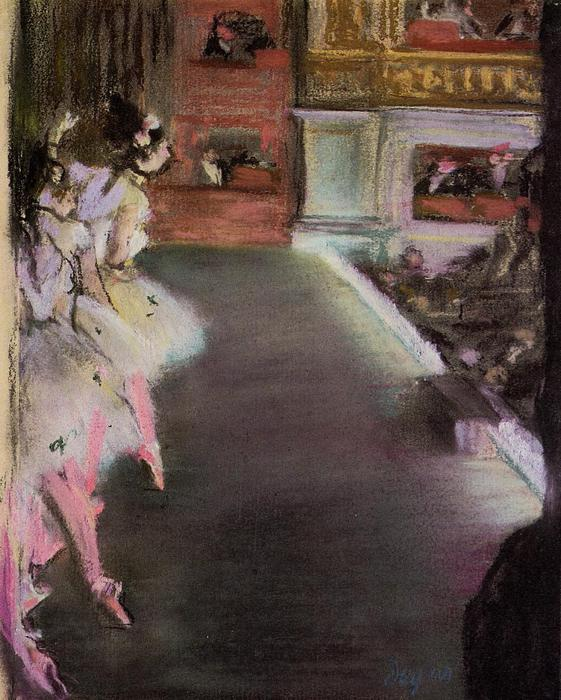 famous painting Dancers at the Old Opera House of Edgar Degas