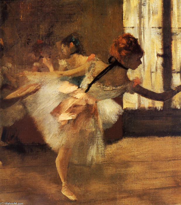 famous painting Repetition of the Dance (detail) of Edgar Degas