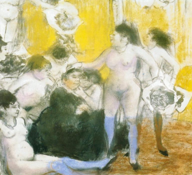 famous painting The festival of the owner of Edgar Degas