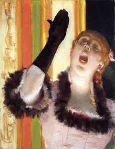 Edgar Degas - Singer with a glove