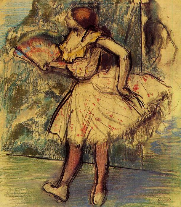 famous painting Dancer with a Fan of Edgar Degas