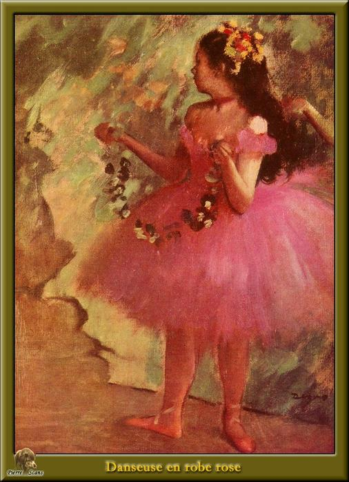 famous painting Dancer in pink dress of Edgar Degas