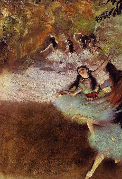 famous painting On the Stage of Edgar Degas