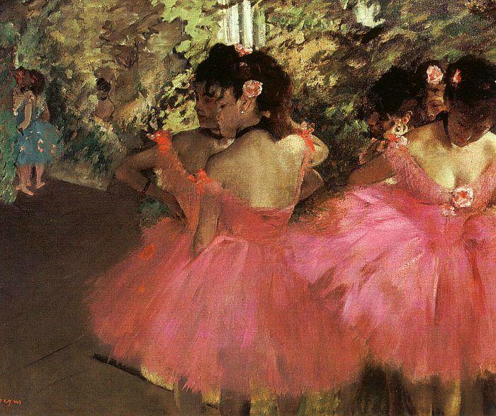 famous painting Dancers in Pink of Edgar Degas