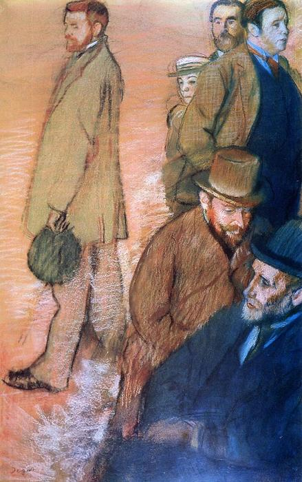 famous painting Six Friends of the Artist of Edgar Degas