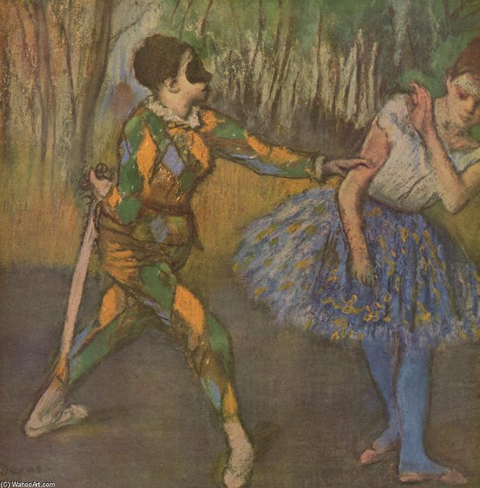 famous painting Harlequin and Colombina of Edgar Degas
