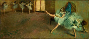 Edgar Degas - Before the Ballet (detail)