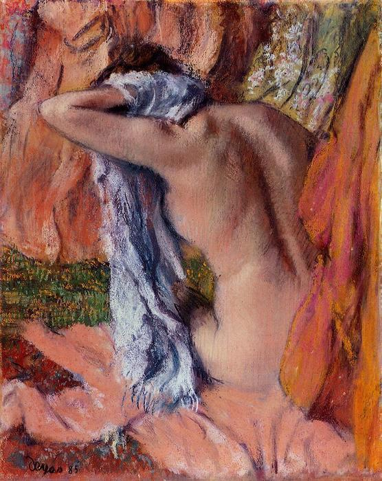 famous painting After the Bath of Edgar Degas
