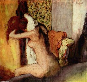 Edgar Degas - After the Bath, Woman Drying Her Nape