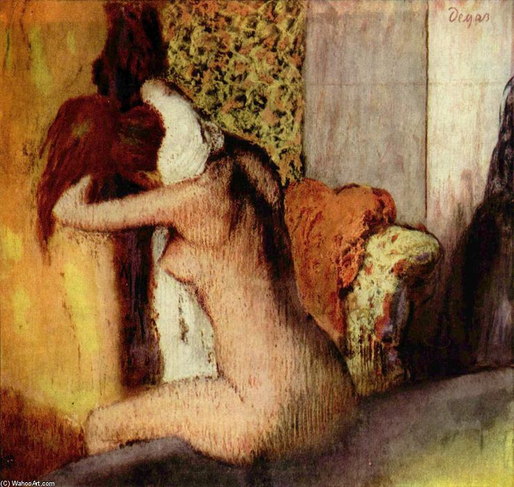 famous painting After the Bath, Woman Drying Her Nape of Edgar Degas