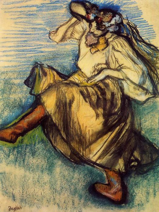 famous painting Russian Dancer of Edgar Degas