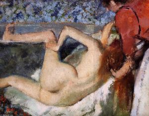 Edgar Degas - The Bath (Woman from Behind)