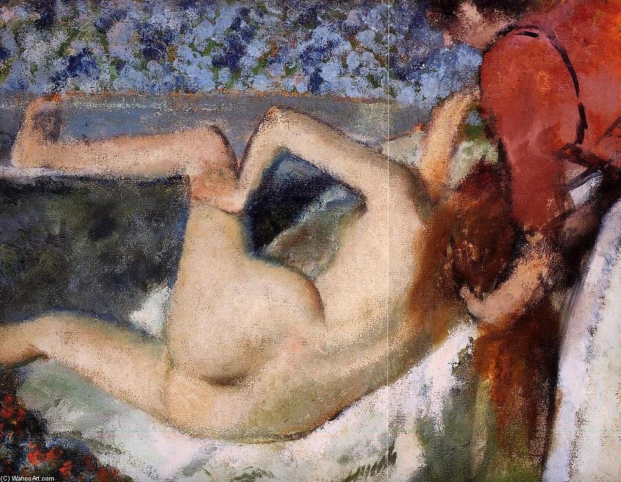 famous painting The Bath (Woman from Behind) of Edgar Degas