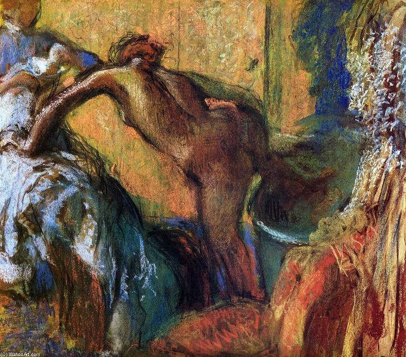 famous painting After the Bath (10) of Edgar Degas