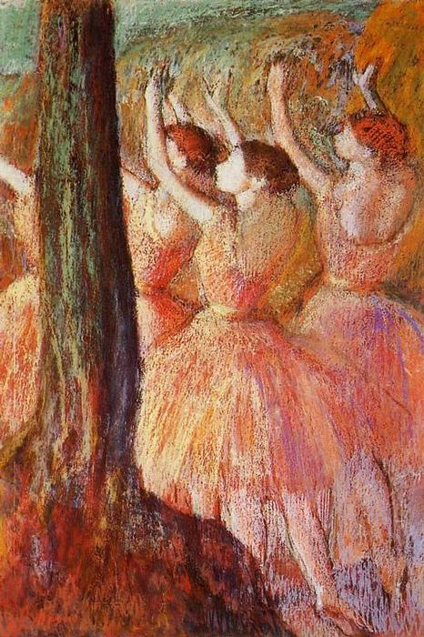 famous painting Pink Dancers of Edgar Degas