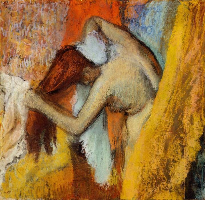 famous painting Woman at Her Toilette of Edgar Degas