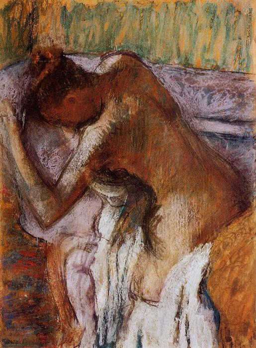 famous painting After the Bath (12) of Edgar Degas