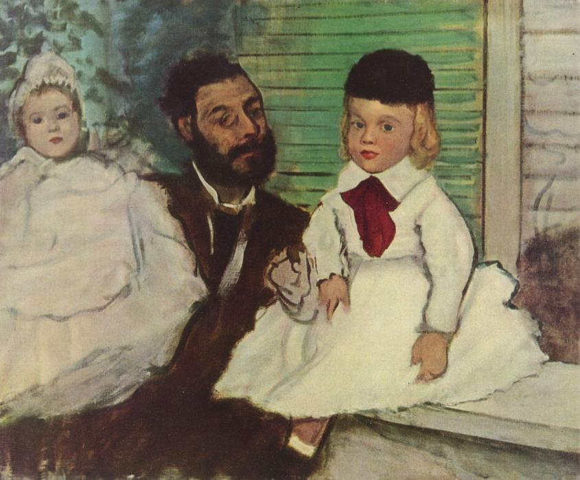 famous painting Comte Le Pic and his Sons of Edgar Degas