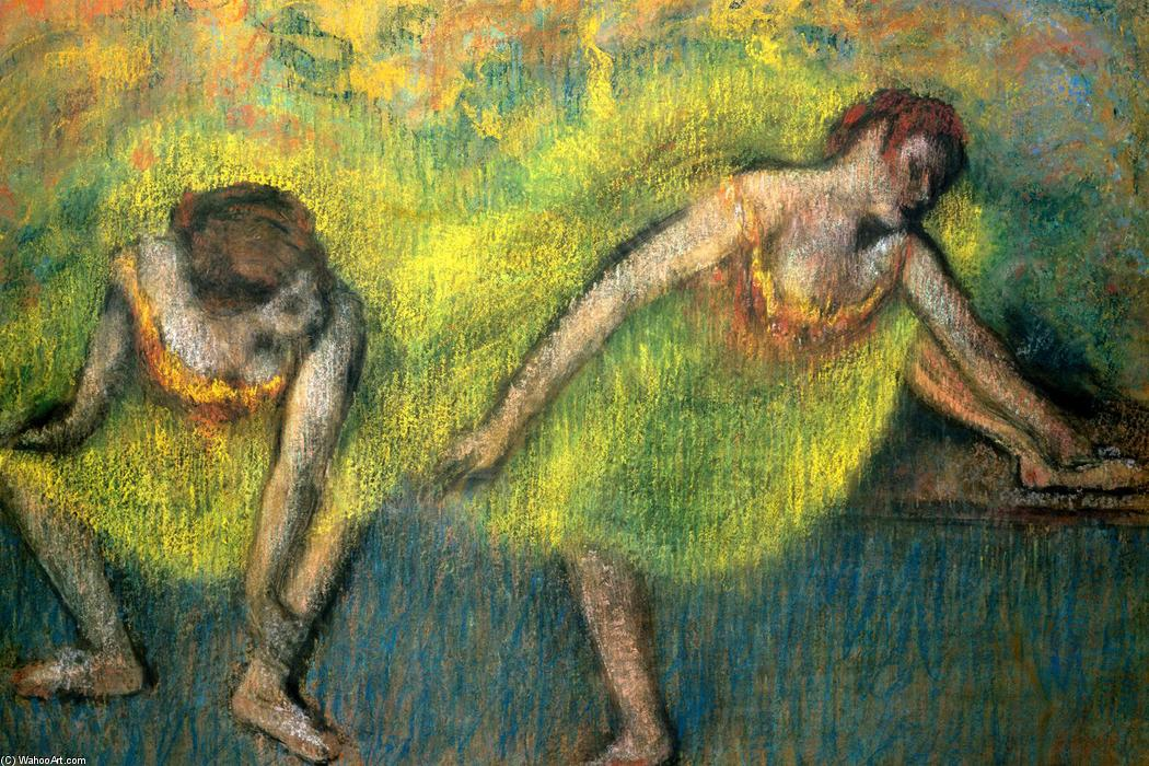 famous painting Two Dancers at Rest of Edgar Degas