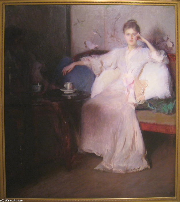 famous painting Arrangement in Pink and Gray (Afternoon Tea) of Edmund Charles Tarbell