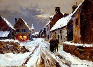 Edouard Cortes - Winter evening