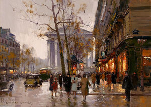 Edouard Cortes - Madeleine and Rue Royale, Paris