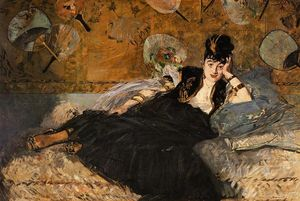 Edouard Manet - The Lady with Fans, Portrait of Nina de Callias