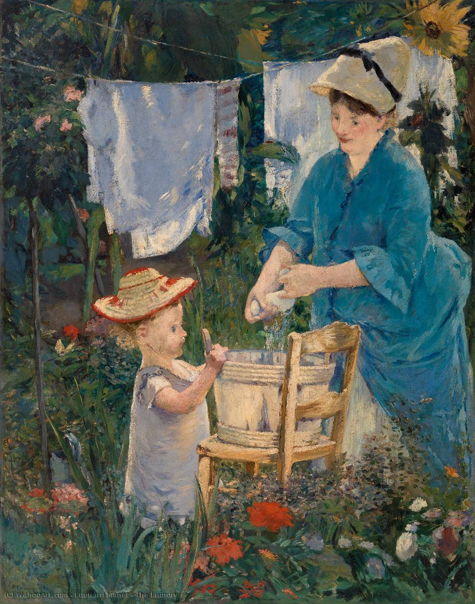 famous painting The laundry of Edouard Manet