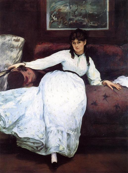 famous painting The Rest, portrait of Berthe Morisot of Edouard Manet