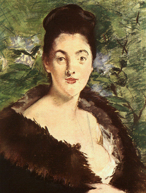 famous painting Lady in a fur of Edouard Manet