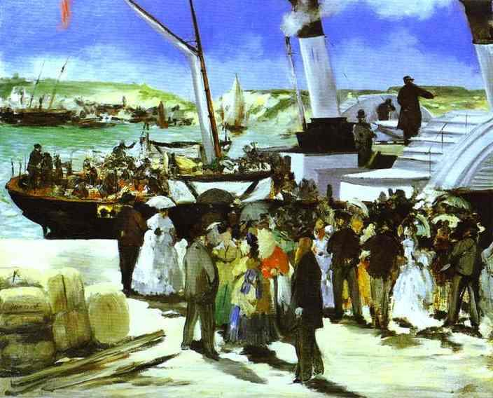 famous painting The Departure Of The Folkestone Boat of Edouard Manet