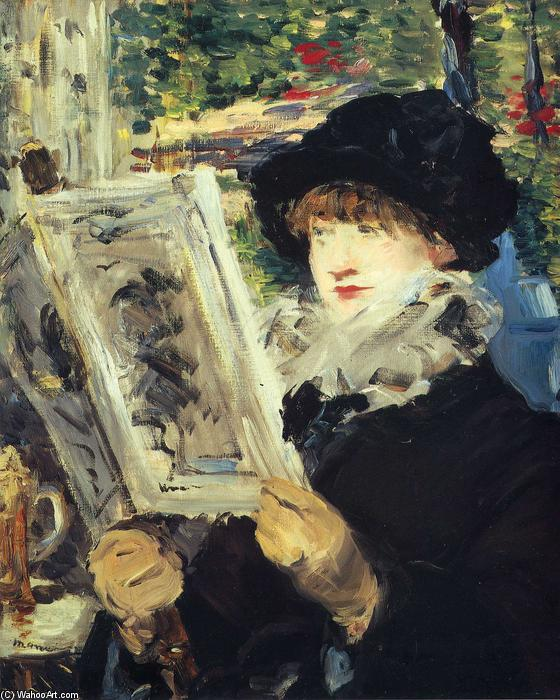 famous painting Woman Reading of Edouard Manet
