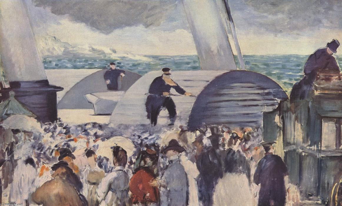famous painting Embarkation after Folkestone of Edouard Manet