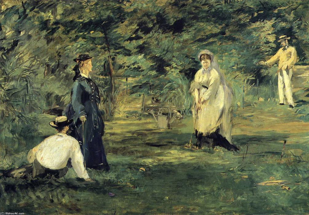famous painting Croquet of Edouard Manet