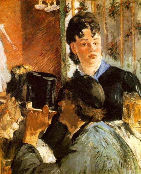 famous painting The waitress Bocks of Edouard Manet