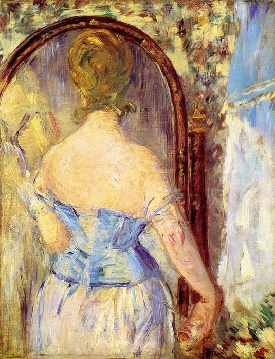 famous painting Woman Before a Mirror of Edouard Manet