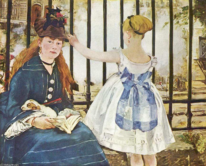 famous painting Railway of Edouard Manet