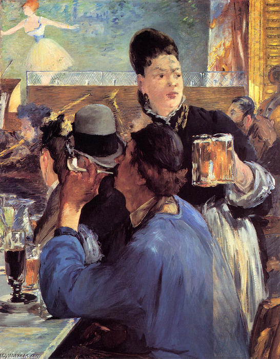 famous painting Corner of a Cafe-Concert of Edouard Manet
