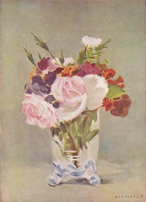 famous painting Still life with flowers of Edouard Manet