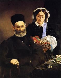 Edouard Manet - Portrait of Monsieur and Madame Auguste Manet