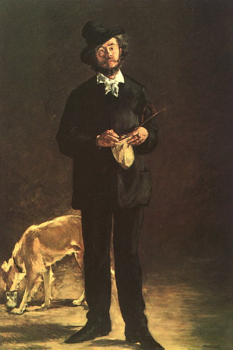 famous painting The Artist (Portrait of Gilbert Marcellin Desboutin) of Edouard Manet