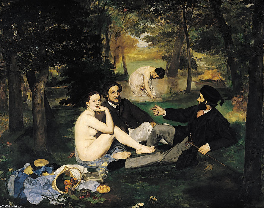 famous painting The Luncheon on the Grass of Edouard Manet