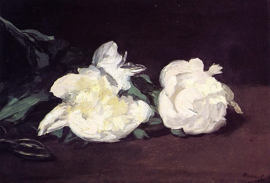 famous painting Branch of White Peonies and Secateurs of Edouard Manet