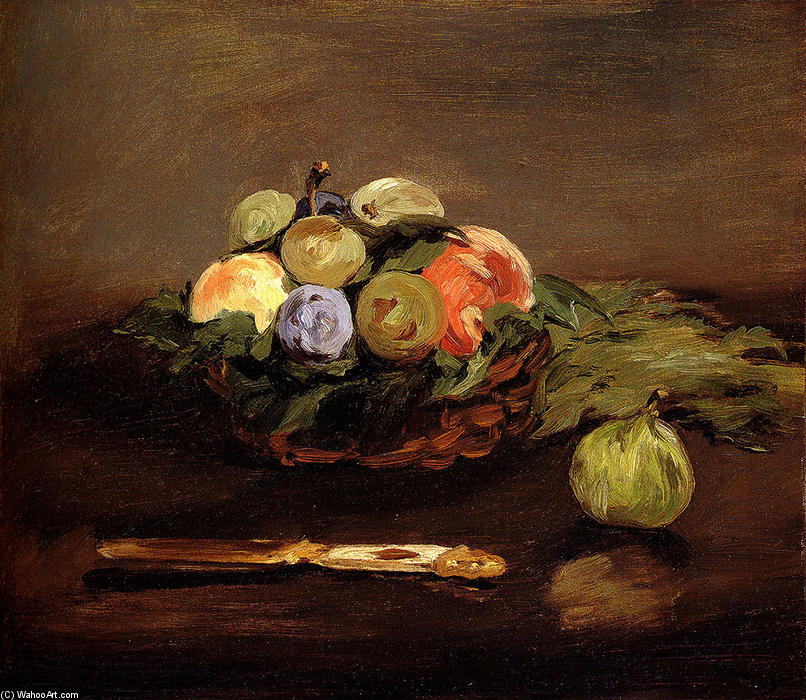 famous painting Basket of Fruits of Edouard Manet