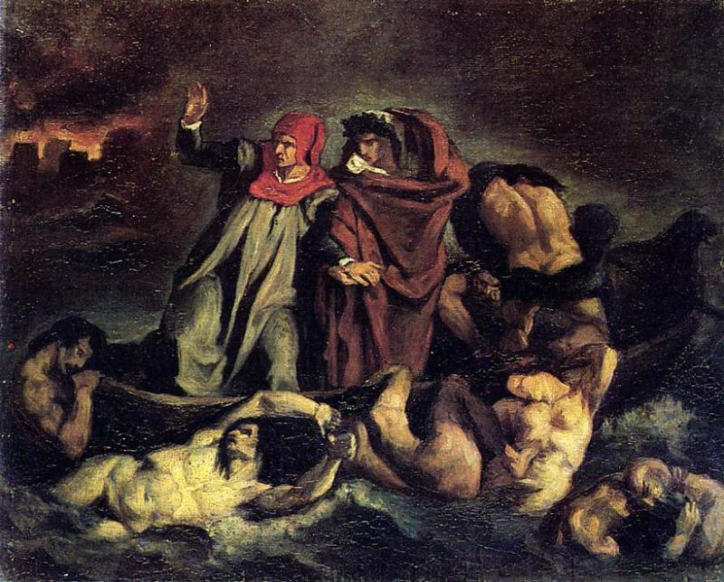 famous painting The barque of Dante (Copy after Delacroix) of Edouard Manet