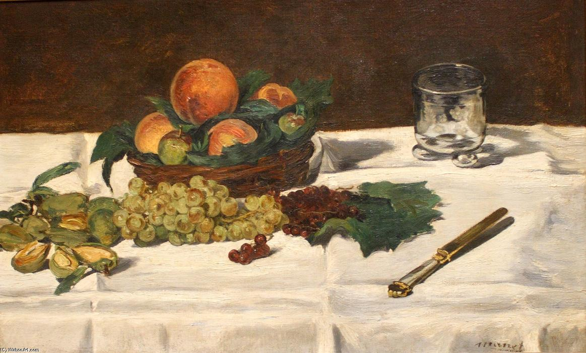 famous painting Still Life: Fruits on a Table of Edouard Manet