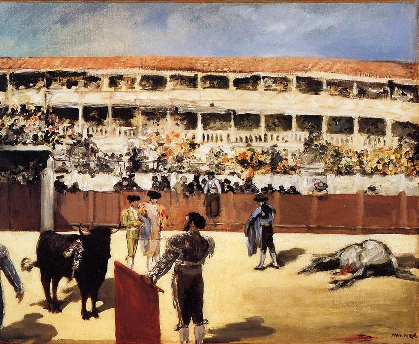 famous painting The Bullfight of Edouard Manet