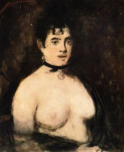 Edouard Manet - Brunette with bare breasts