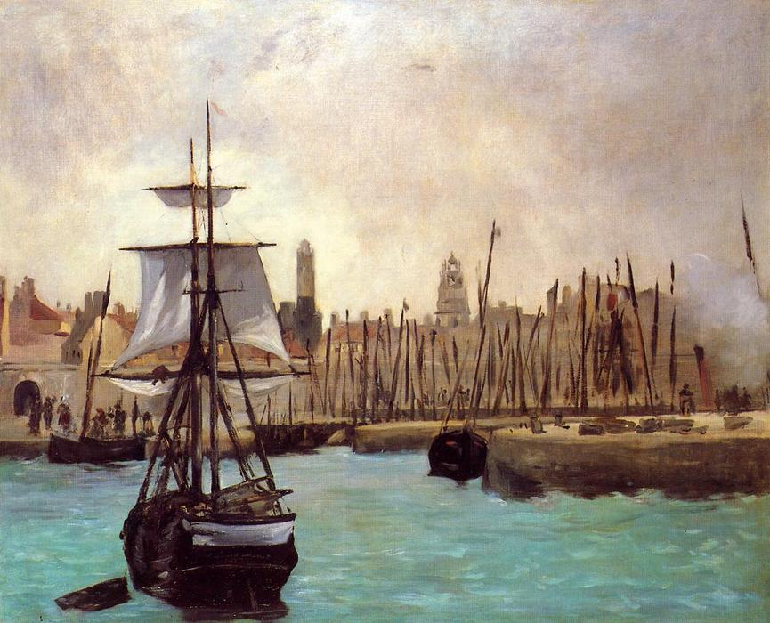 famous painting The Port of Bordeaux of Edouard Manet