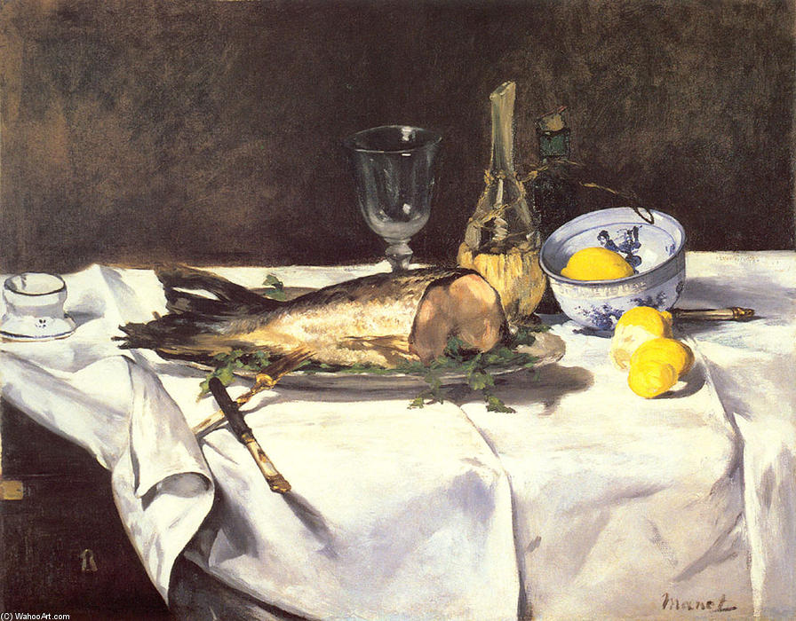 famous painting The salmon of Edouard Manet